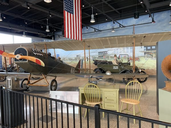 Wichita Falls Texas Itinerary featured by top travel blog, The Common Traveler: Jenny to Jetty exhibit with old plane and old jeep at Wichita Falls airport
