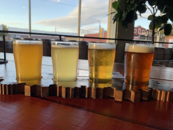 Wichita Falls Texas Itinerary featured by top travel blog, The Common Traveler: Flight of 4 beers from Wichita Falls Brewing Company