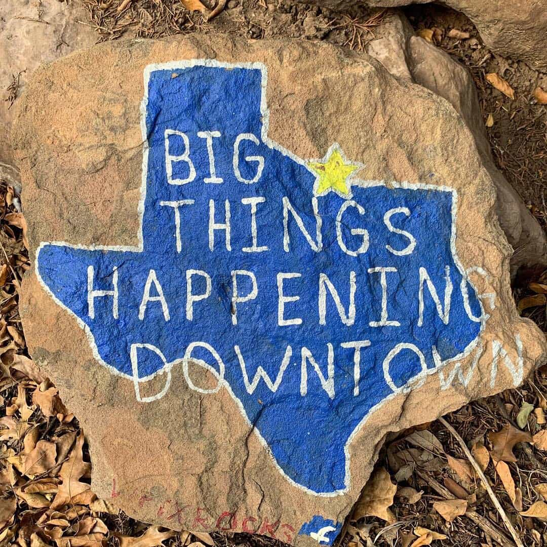 Wichita Falls Texas Itinerary featured by top travel blog, The Common Traveler: Rock painted on with Texas map reads