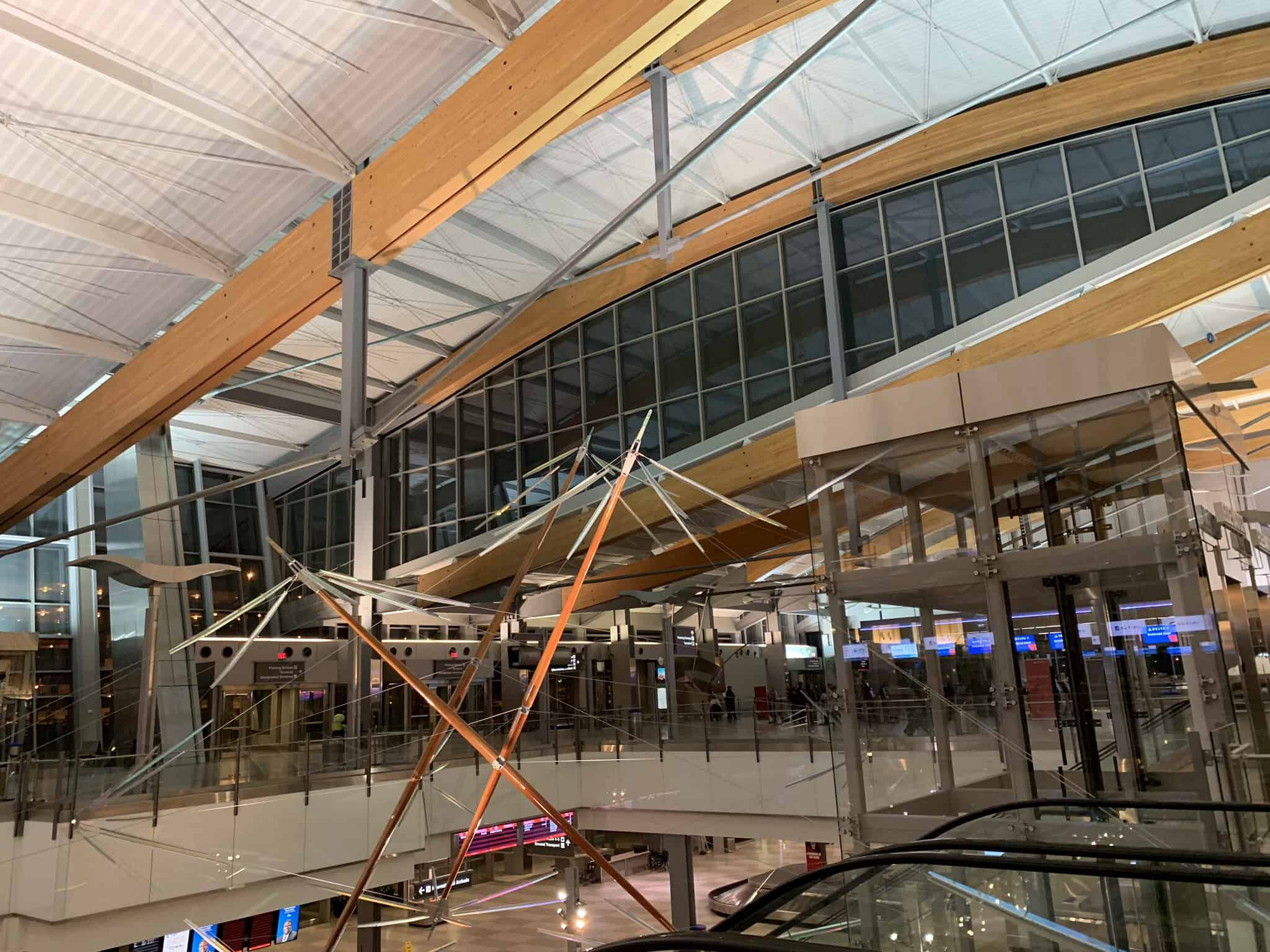 inside terminal of RDU Airport