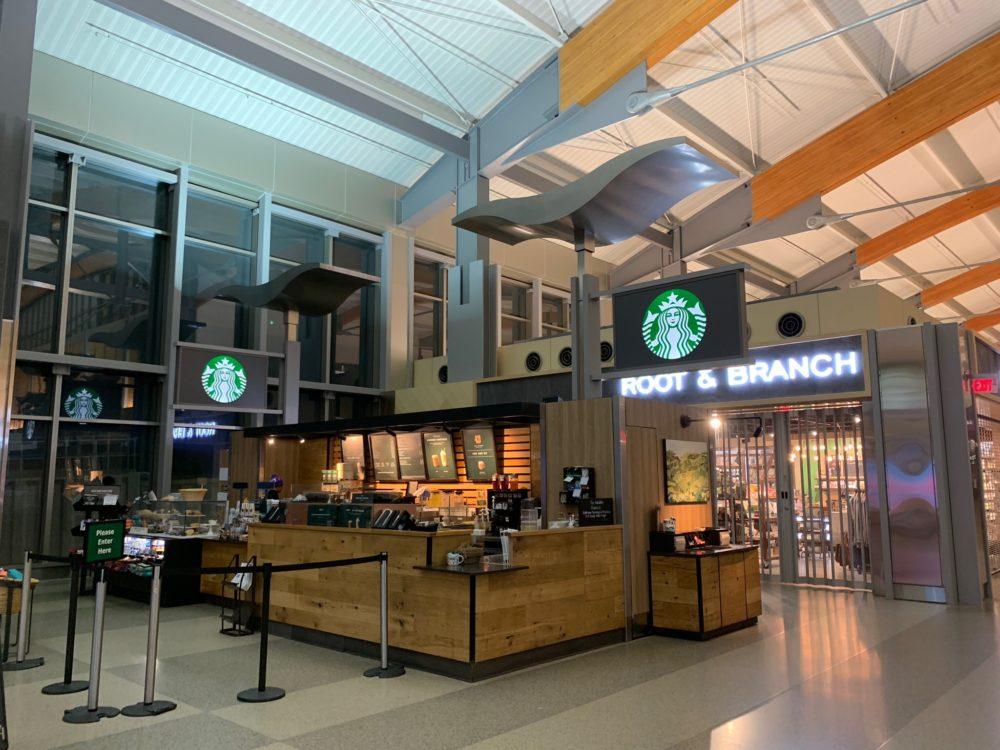 Starbucks inside RDU airport