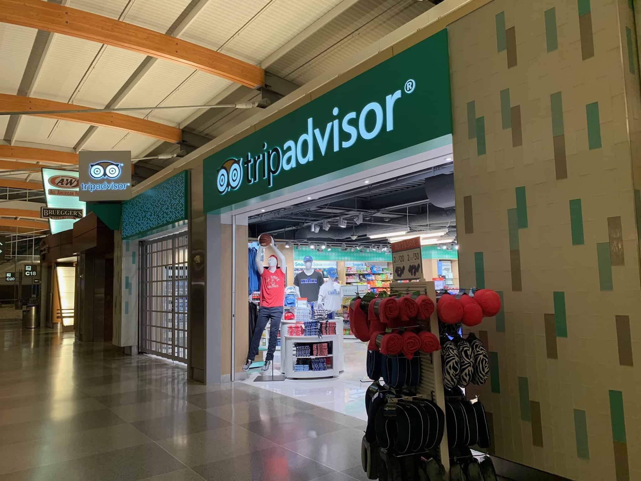 storefront of Trip Advisor store