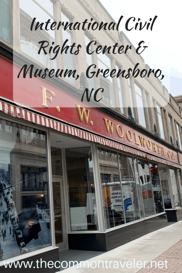 Guide to visiting the International Civil Rights Center & Museum in Greensboro, NC, USA. #civilrights #sitin #peacefulprotest #MLK #