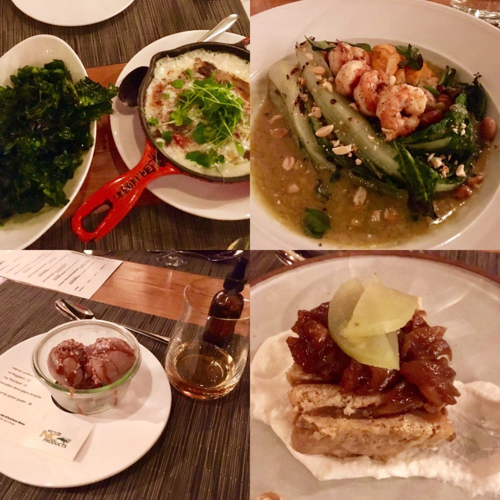 four dishes at The Chef and The Farmer