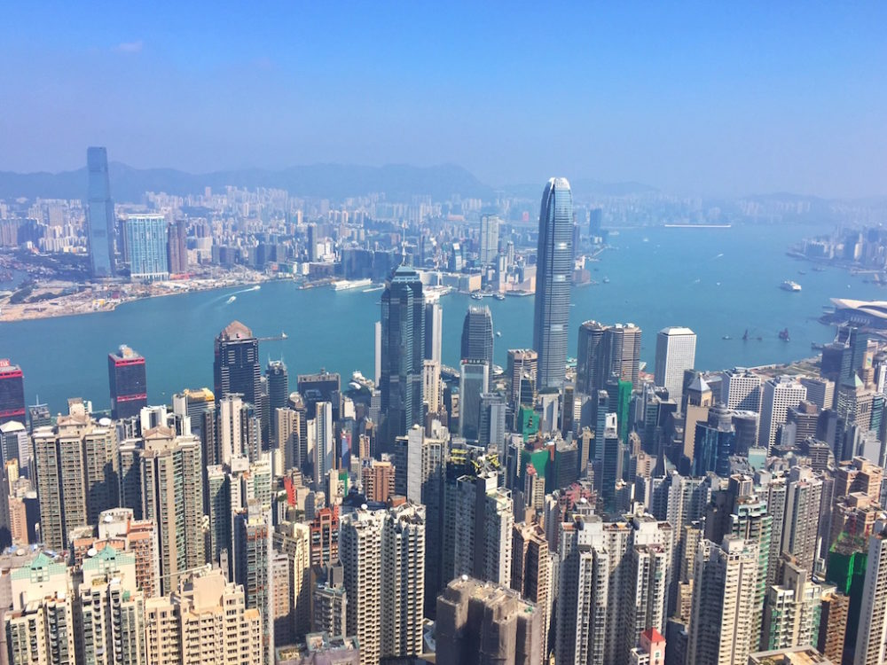 Travel bloggers' favorite places to visit in Asia and Oceania featured by top travel blog, The Common Traveler: view of Hong Kong from high point