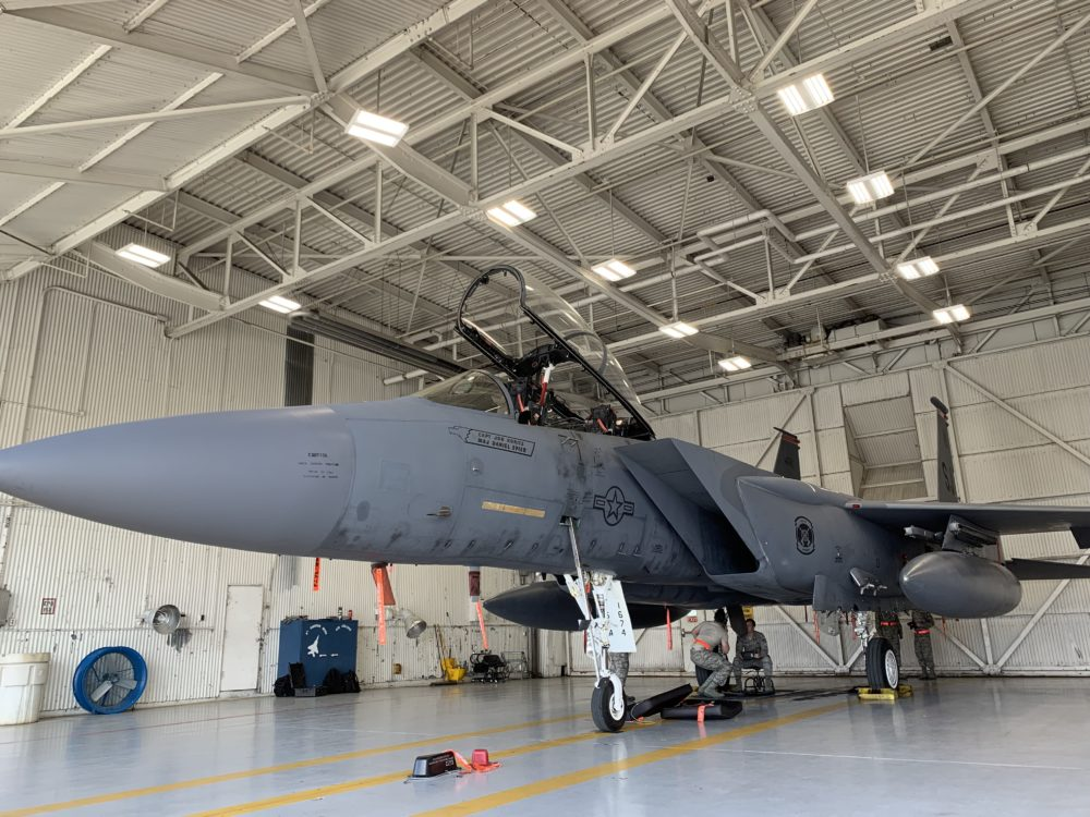 Best things to do in Goldsboro NC at the weekend, featured by top NC blog, The Common Traveler: image of jet plane at Seymour Johnson Air Force Base