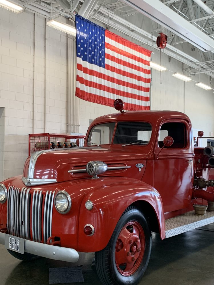 old fire truck at Seymour Johnson AFB