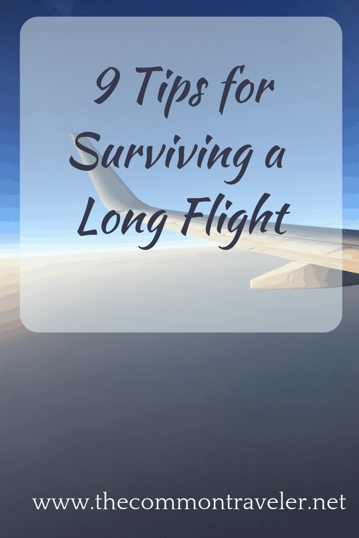 A long flight to your destination can make or break your trip. These 9 tips by The Common Traveler will help you make the best of a long flight. #longflight #longhaul
