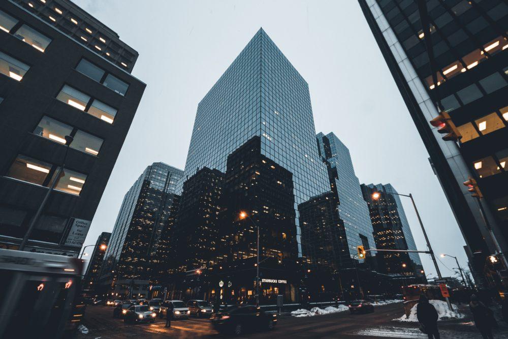 black glass buildings in Ottawa
