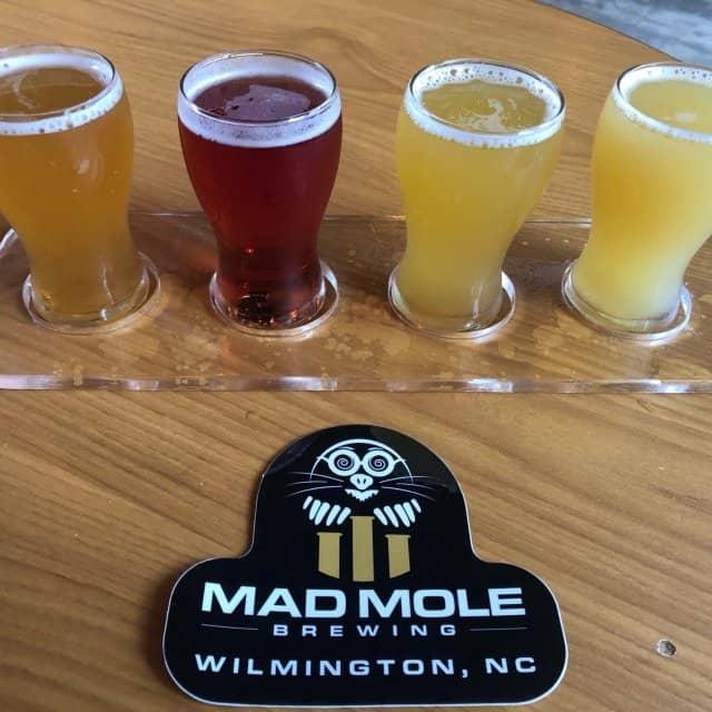 beer flight from Mad Mole