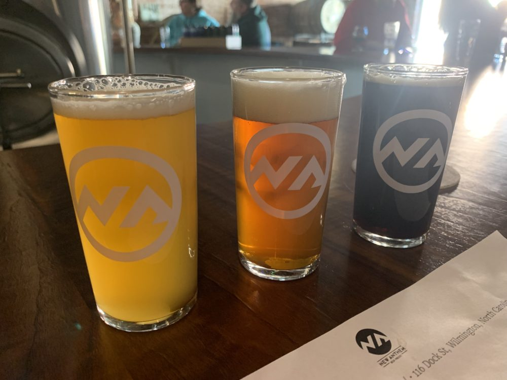 3 beer pints at New Anthem Beer Project