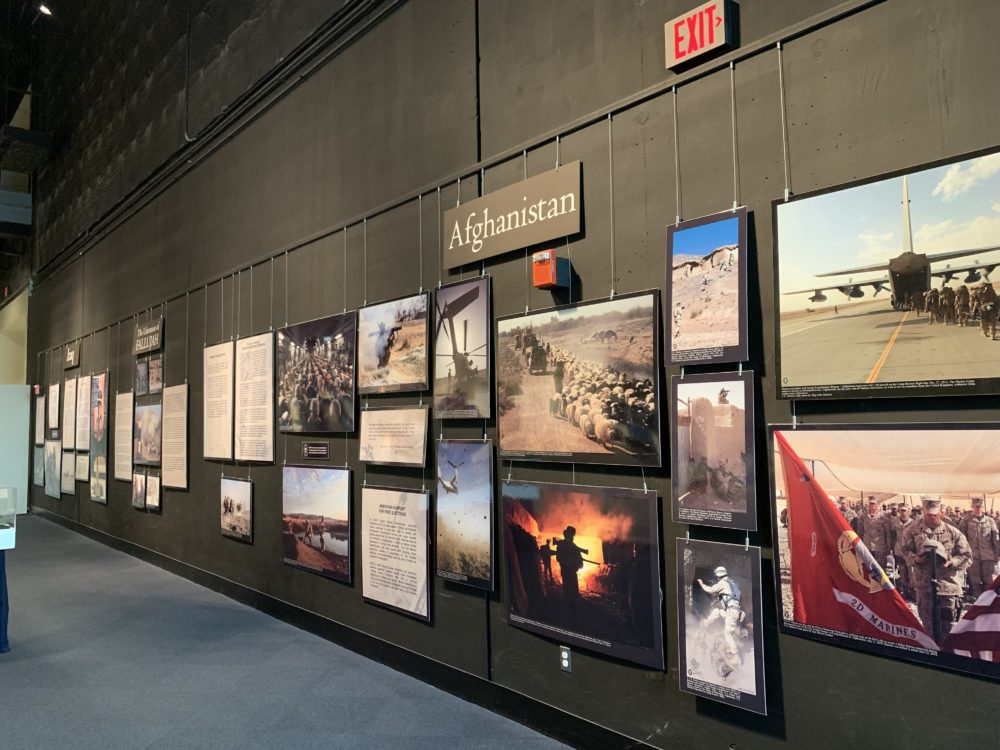 wall displays inside Marine Corps Museum
