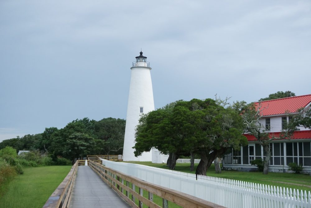 A Complete Tour of the Best North Carolina Lighthouses featured by top NC travel blog, The Common Traveler: Ocracroke Lighthouse
