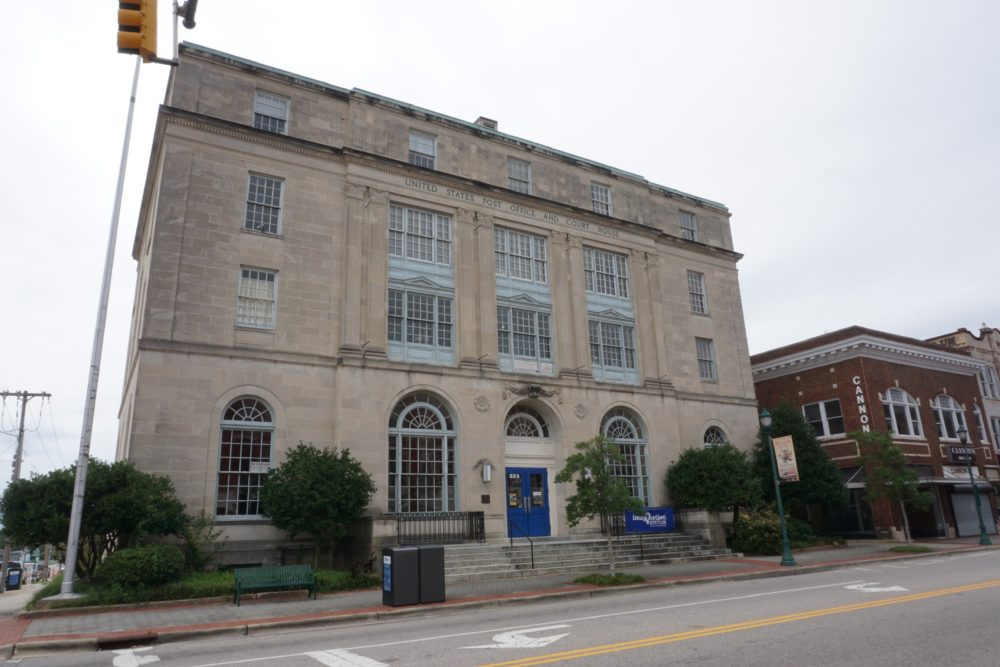historic post office and courthouse building in Wilson, NC