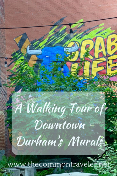 Downtown Durham, NC, USA, has seen an explosion of murals! Here is your self-guided walking tour of Downtown Durham's murals,, with map. #durham #durhamnc #durhammurals #murals