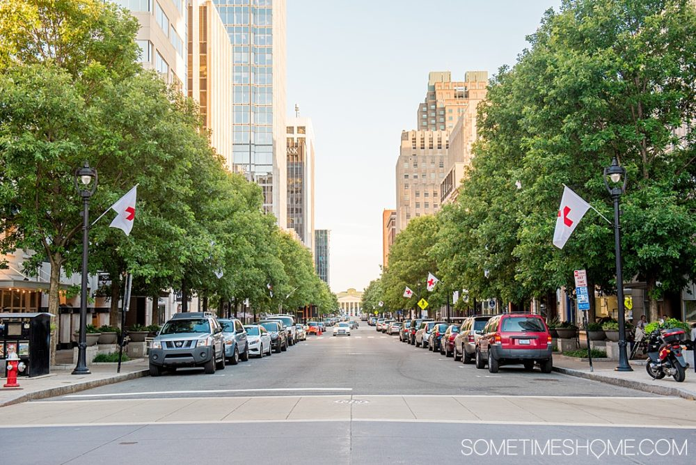 street view of downtown Raleigh