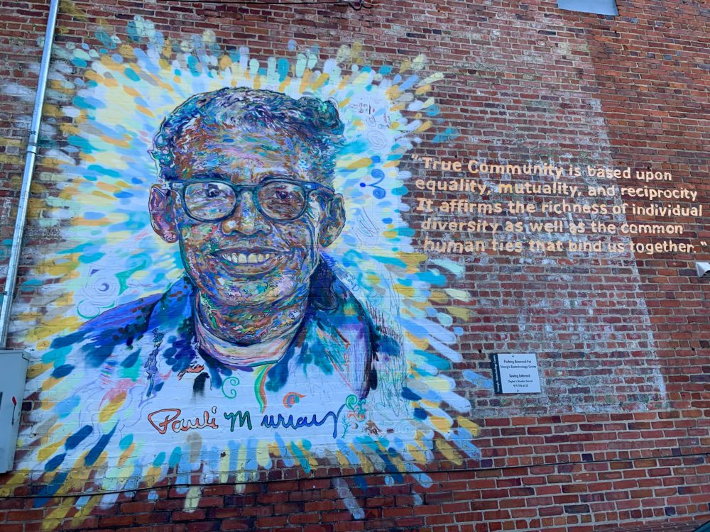 downtown Durham mural of civil rights activist Pauli Murray