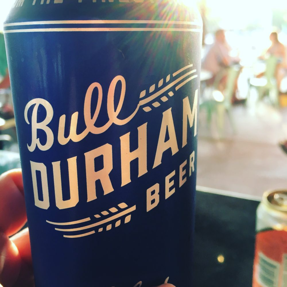 Bull Durham Beer can