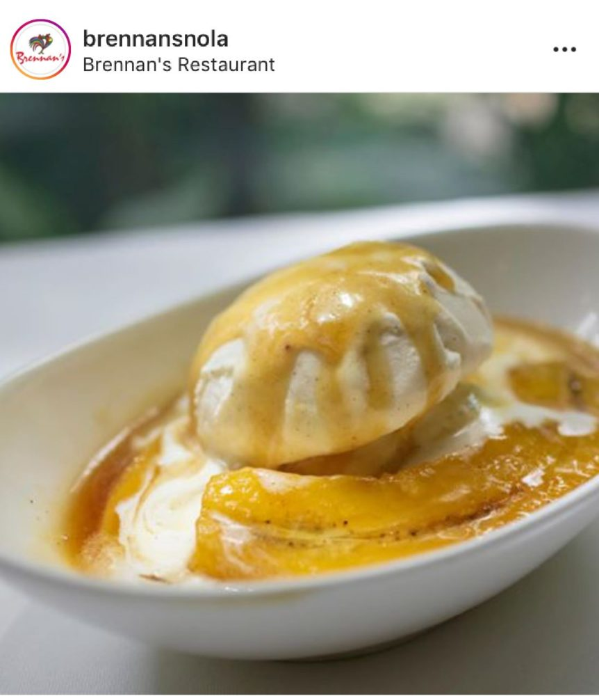 Bananas Foster dish from Brennan's Restaurant in New Orleans.