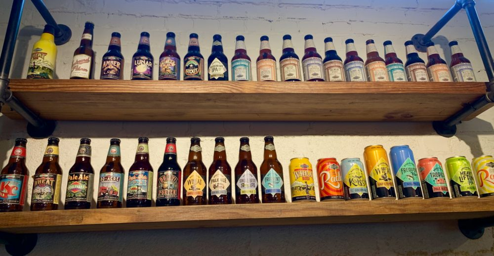 Boulevard Brewing Company beer bottles and cans