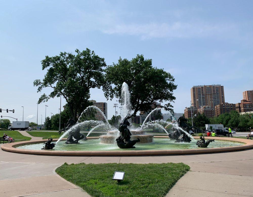 water fountain in Kansas City