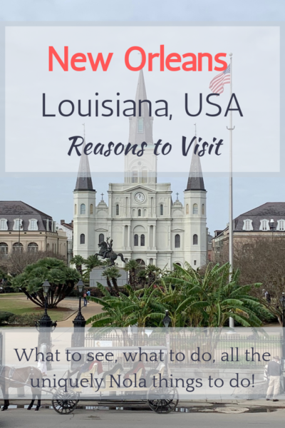 Looking for reasons why you should visit New Orleans, Louisiana, USA? This list includes well-known and lesser known reasons to add New Orleans to your bucket list.
