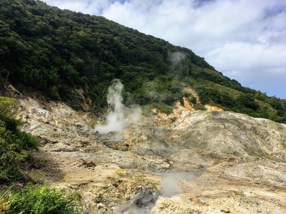 The Best Caribbean Cruise Shore Excursions to do on Port Day featured by top cruise blog, The Common Traveler: image of sulfur springs in Saint Lucia