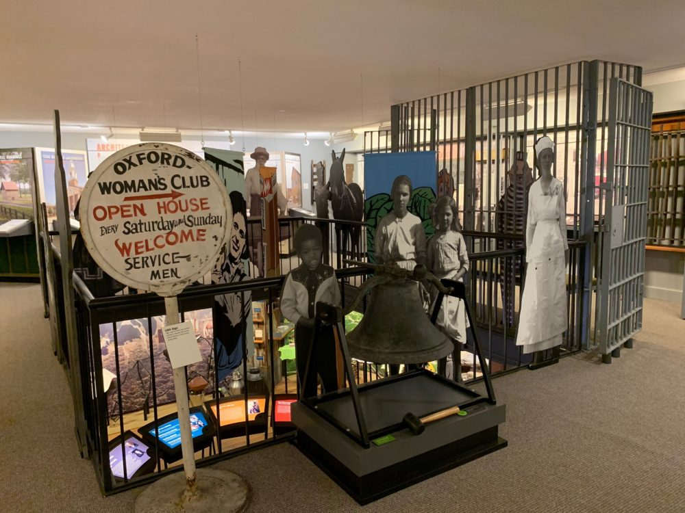 display case inside Granville County Museum