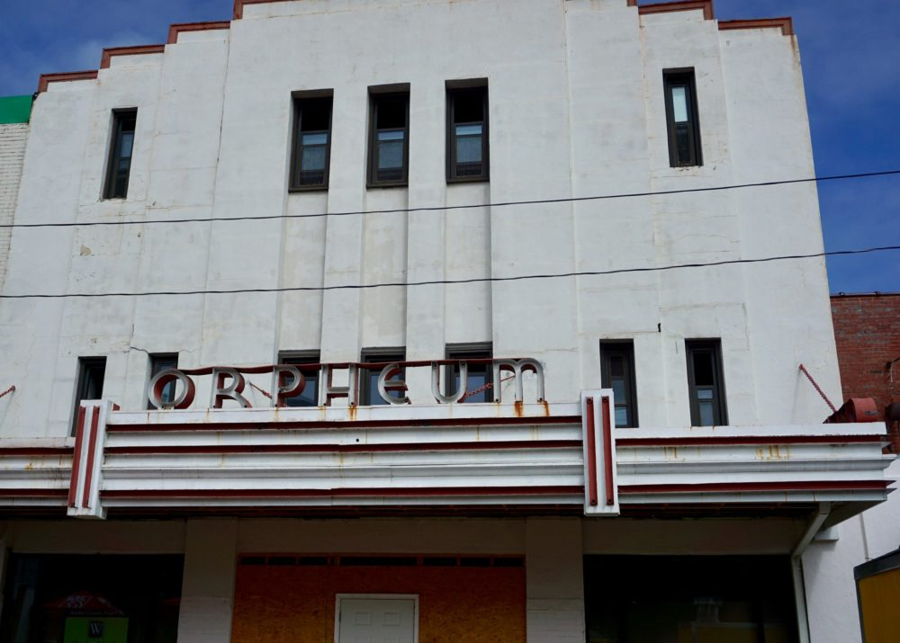 12 FUN THINGS TO DO IN OXFORD NC featured by top NC travel blog, The Common Traveler: image of Orpheum Theater  - old art deco facade