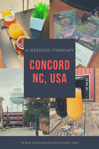 The best things to do in Concord NC in a weekend featured by top travel blog, The Common Traveler: Looking for a weekend getaway? Concord, NC just might fit the bill. Check out where racing lives.