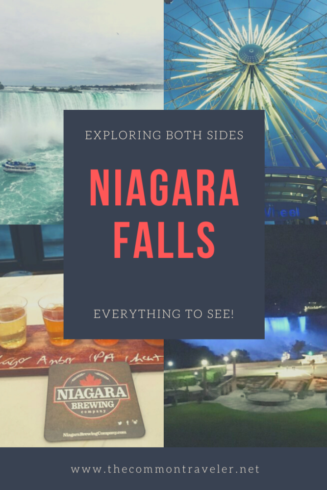 Day Trip to Niagara Falls - US and Canadian Sides featured by top travel blog, The Common Traveler: Don't sacrifice one side or the other when visiting Niagara Falls. Here is a day trip itinerary to see the best things on each side of the border.