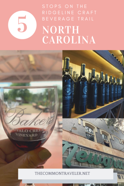 Ridgeline Craft Beverage Trail featured by top NC travel blog, The Common Traveler: All the details you need to explore the Ridgeline Craft Beverage Trail outside of Charlotte, NC, including map and links. #visitnc #charlotte #ridgeline
