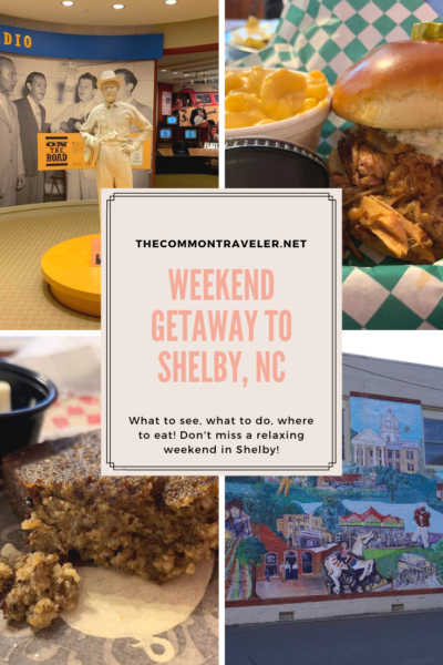 A Weekend in Shelby NC featured by top NC travel blog, The Common Traveler:  Looking for a fun weekend getaway? Visit Shelby, NC! Known as a relaxation destination, find out what to see, do, and eat. #shelbync #tourclevelandcounty #nc