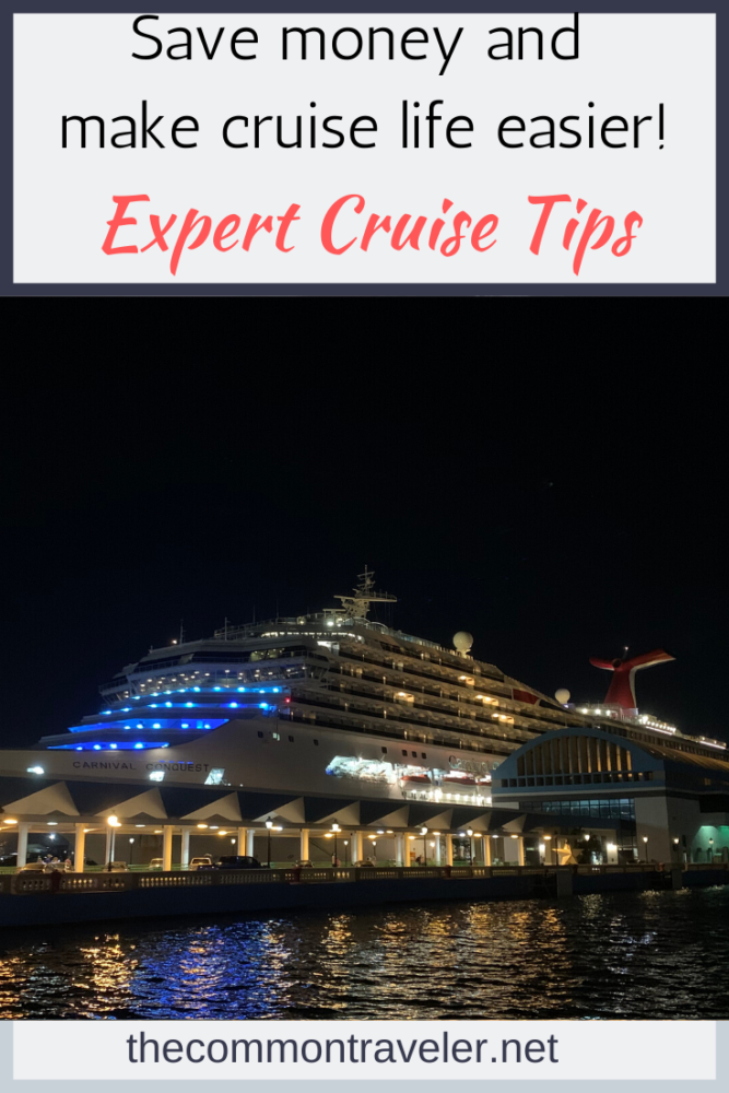 14 Cruise Tips and Tricks Every Cruiser Should Know featured by top US cruise blog, The Common Traveler.