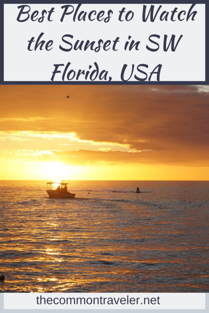 Top 5 best places to watch the sunset in SW Florida, featured by top US travel blog, The Common Traveler