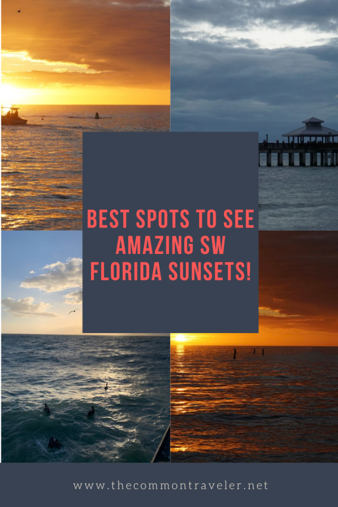 Top 5 best places to watch the sunset in SW Florida, featured by top US travel blog, The Common Travele.