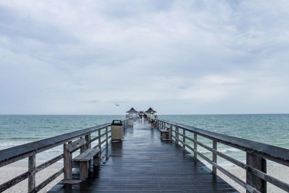 Wooden Pier into Ocean Naples pier