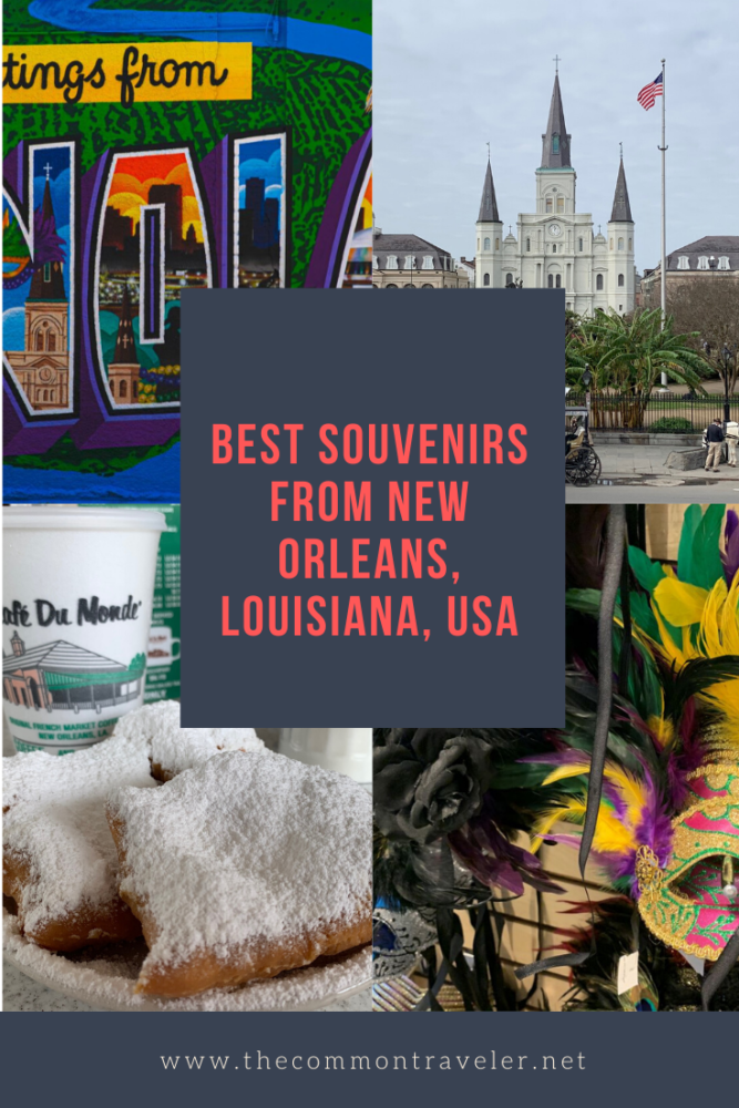 A trip to New Orleans wouldn't be complete without some great souvenirs. Top travel blogger The Common Traveler reveals the best souvenirs from New Orleans, even if you only have time to buy them at the airport. #neworleans #neworleanssouvenirs