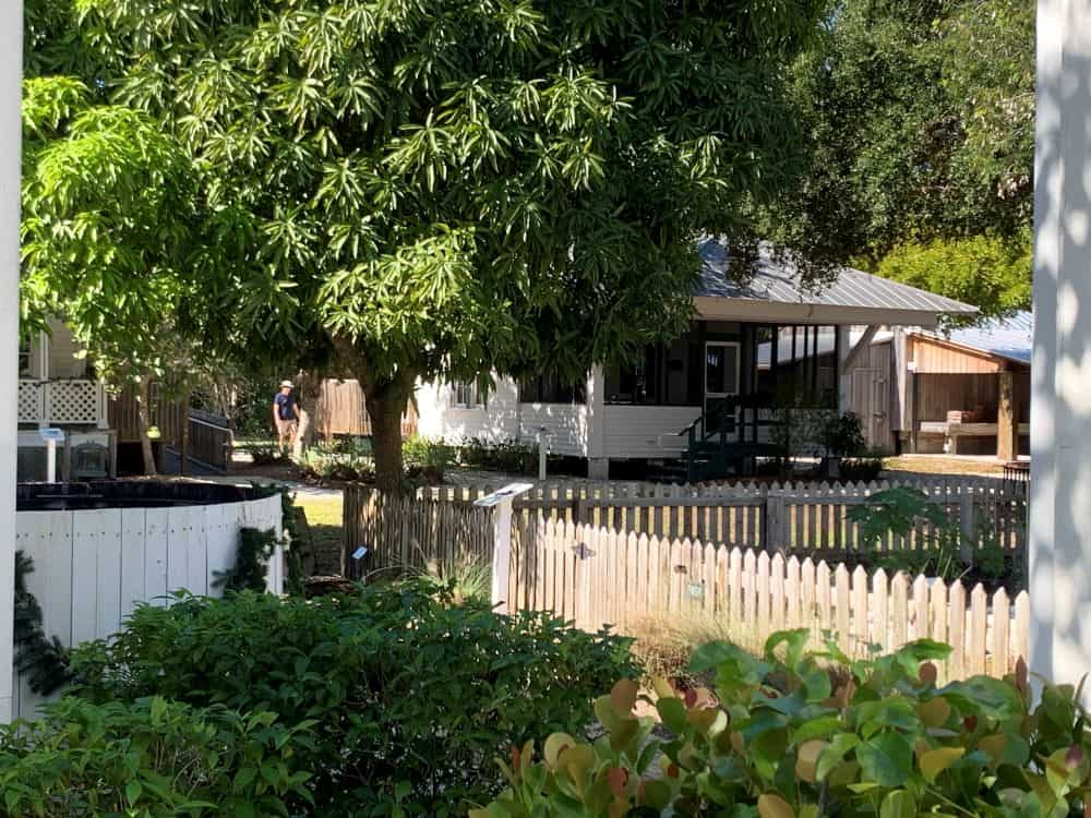 WHAT TO DO IN SANIBEL ISLAND OTHER THAN BEACHES featured by top US travel blog, The Common Traveler: image of Sanibel Historical Museum & Village - wooden among greenery