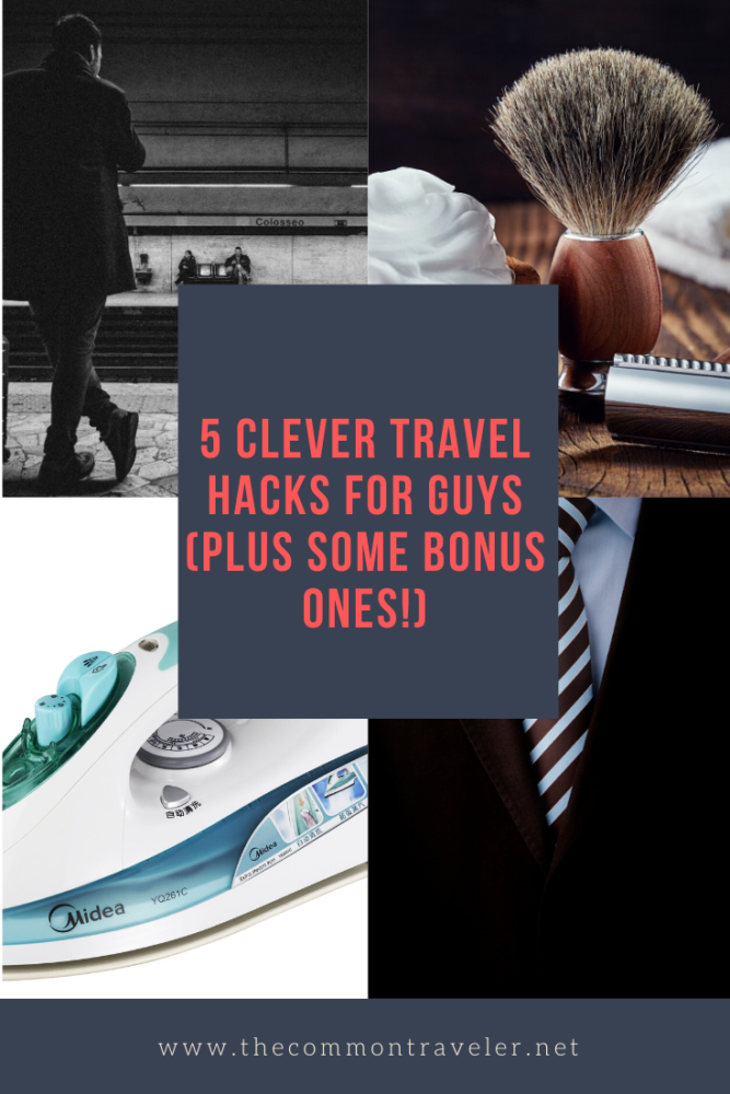 Learn the best travel hacks for men (and women) and start improving your travel game immediately. We share 5 clever travel hacks for anyone who travels. #travelhacks