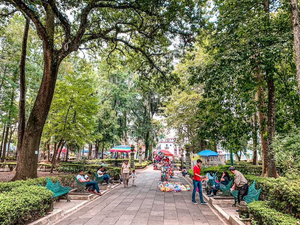 16 BEST PLACES TO VISIT IN MEXICO featured by top travel blog, The Common Traveler: image of downtown square in Xalapa, Mexico