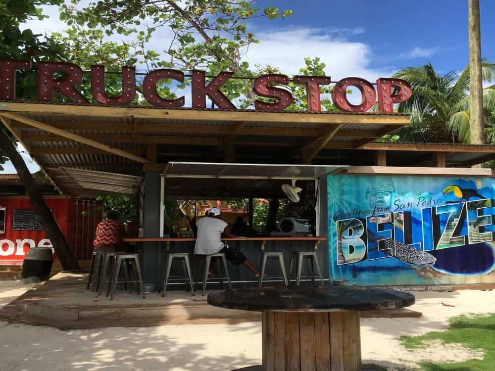The Best Restaurants in San Pedro Belize featured by top travel blog, The Common Traveler; truck stop