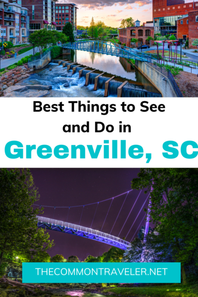 Visiting Greenville, SC? Here are the 10 best things to see and do, including a bonus if you're visiting in the winter! Yeah, that Greenville! #greenvillesc #visitsc #greenville #yeahthatgreenville