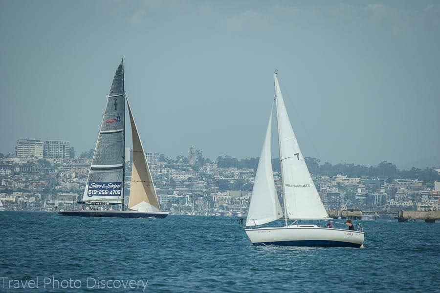 TOP 20 BEST WEEKEND GETAWAYS IN THE US featured by top US travel blog, The Common Traveler: image of  Sailboats in San Diego, California