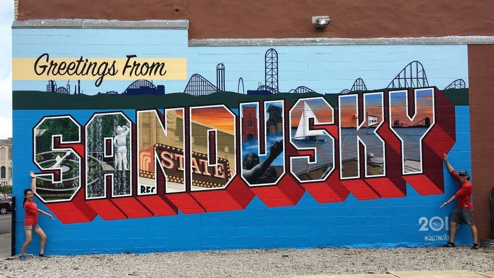 TOP 20 BEST WEEKEND GETAWAYS IN THE US featured by top US travel blog, The Common Traveler: image of  Sandusky, Ohio wall mural