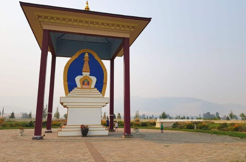 TOP 20 BEST WEEKEND GETAWAYS IN THE US featured by top US travel blog, The Common Traveler: image of  Garden of One Thousand Buddhas in Missoula, Montana