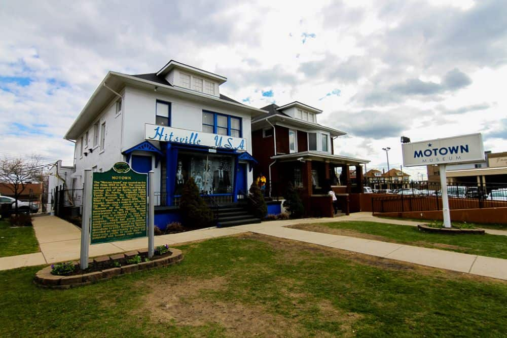 TOP 20 BEST WEEKEND GETAWAYS IN THE US featured by top US travel blog, The Common Traveler: image of  Motown Museum in Detroit, Michigan