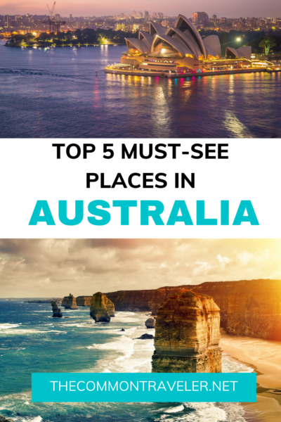 Australia has so many beautiful areas to share with visitors that it would take a really long time to see everything! Here are the top 5 areas to consider for a first time visitor. #australia #firsttimeaustraliavisitor #westernaustralia #sydney #perth #12apostles #uluru #melbourne #greatbarrierreef #cairns #margaretriver #greatoceanroad