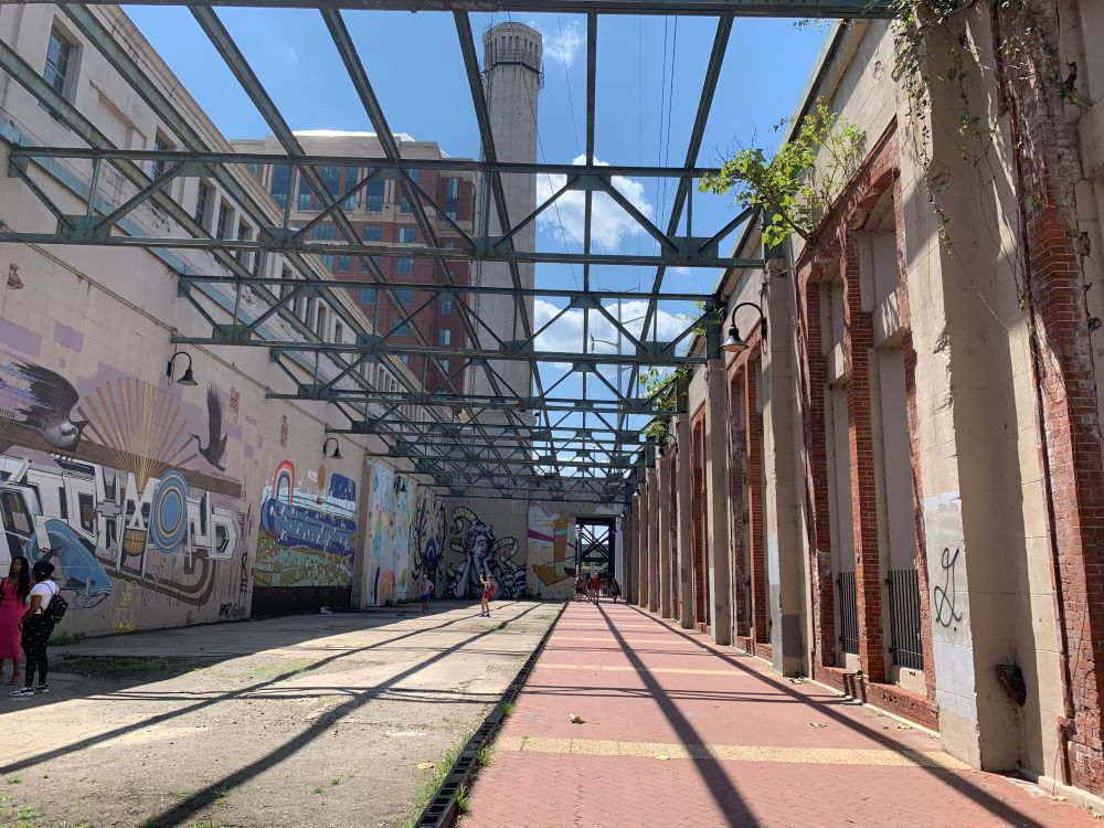 WEEKEND IN RICHMOND VA travel guide featured by top US travel blogger, The Common Traveler. Image of old cement factory with murals