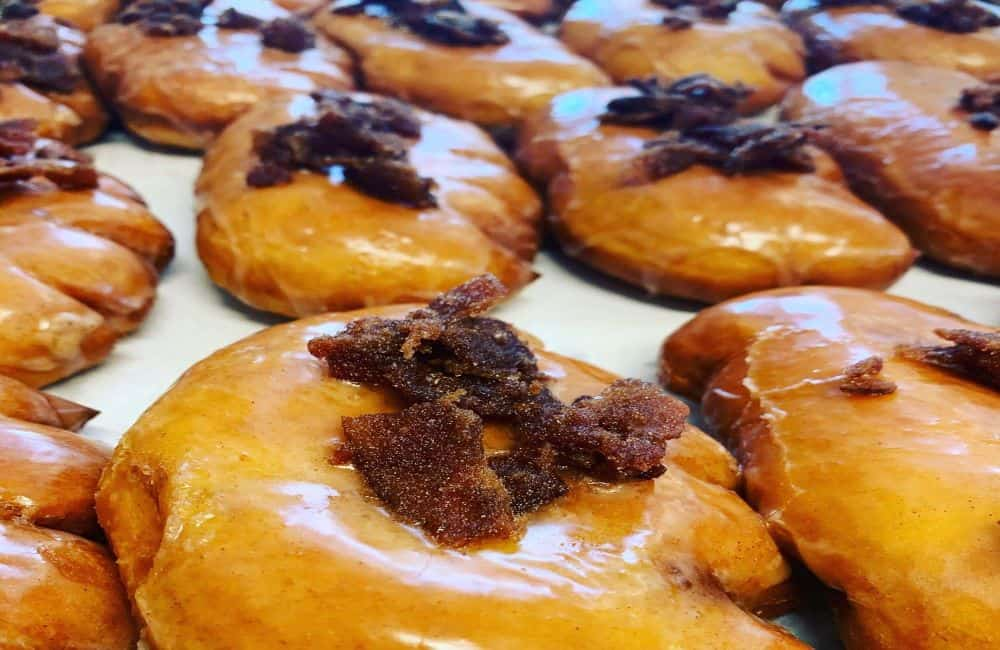 TOP 10 BEST DONUTS IN NORTH CAROLINA featured by top NC blogger, The Common Traveler: Apple Bacon Bear Claws at HenDough - Best Donut Shop in NC